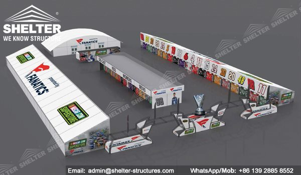 1 SHELTER Jet Tent - Hospitality Tent in NASCAR Sprint Cup Series