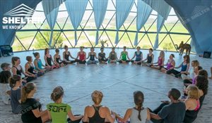 105 SHELTER Yoga Dome - Dia. 30 m Geodesic Dome Fitness