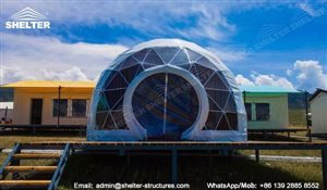 107 SHELTER Yoga Dome - Dia. 15m Geodesic Dome Fitness