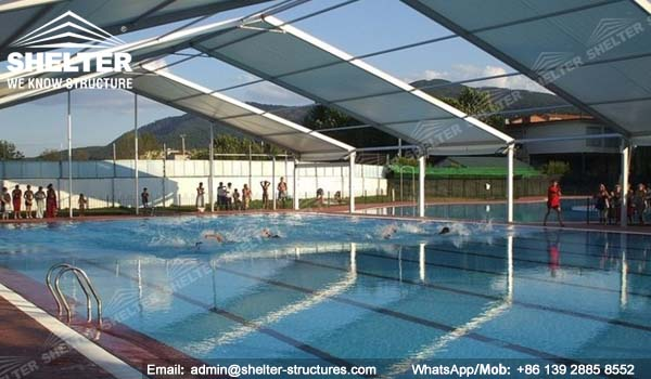 21 SHELTER Covered Swimming Pool - Metal Pool Canopy - Pool ...