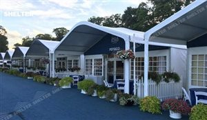 26 SHELTER Arch Tent - Golf Lounge - Curved Beam Tent - Hospitality Tent - PGA Tour