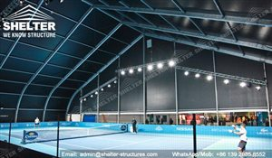 53 SHELTER 40 x 40m TFS Structures - Indoor Tennis Courts - Tennis Court Construction -2