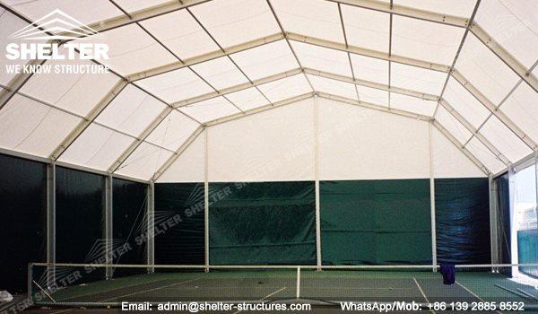61 SHELTER Polygonal Tent - Indoor Tennis Courts Installation - Indoor Tennis Club