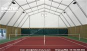 62 SHELTER Polygonal Tent - Indoor Tennis Courts Installation - Indoor Tennis Club