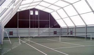 63 SHELTER Polygonal Tent - Indoor Tennis Courts Installation - Indoor Tennis Club
