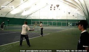 65 SHELTER Tensioned Fabric Structures - Indoor Tennis Courts Installation - Indoor Tennis Club 60 x 100m