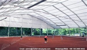 66 SHELTER Polygonal Tent - Indoor Tennis Courts Installation - Indoor Tennis Club 60 x 100m
