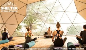 99 SHELTER Yoga Dome - Dia. 15m Geodesic Dome Fitness