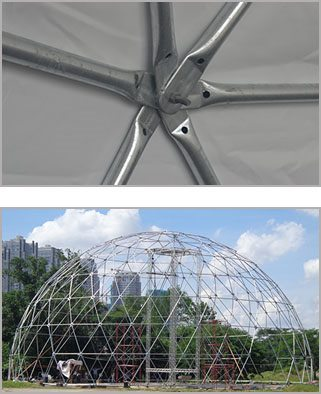 Frame of yoga dome geodesic dome construction sports tent - The geodesic dome in connecticut call of earth ...