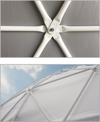 Frame-of-Yoga-Dome---Geodesic-Dome-Construction