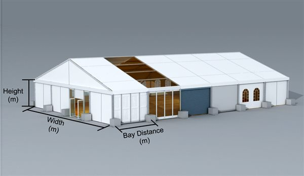 SHELTER 20 x 30 m Indoor Tennis Courts with Completed Accessories