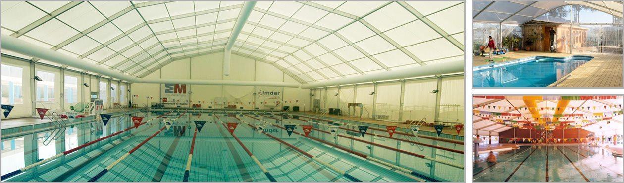 Covered swimming pool metal pool canopy pool enclosure for Sport swimming pool design
