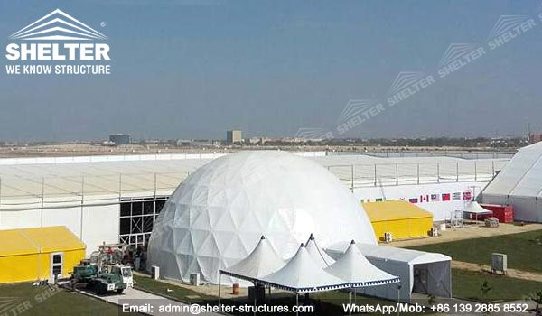 SHELTER Geodesic Domes - Sports Dome Tent - Hemisphere Tents - Hospitality Tent for Sale - & Hospitality Tent - Stadium Lounge Hall - SHELTER Sports Tent