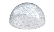 SHELTER Hospitality Tent - 3D Model of Sports Tent Structures - Geodesic Dome Tent - Spherical Sport Lounge Hall -5