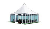 SHELTER Hospitality Tent - 3D Model of Sports Tent Structures - High Peak Sport Lounge Hall - Sports Canopy -2