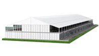 SHELTER Sports Tent - Double Decker Lounge Tent - Two Story Hospitality Hall - Football Court Design