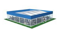 SHELTER Sports Tent - Thermo Roof Football Lounge Tent - Hospitality Tent - Football Court Design