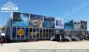 SHELTER Thermo Roof Hospitality Tent with Glass Wall - Official Store in US Surfing Open
