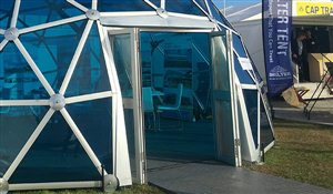 SHELTER Yoga Dome - SHELTER Yoga Dome - Door Option for Geodesic Dome - Aluminum Folding Door