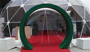 SHELTER Yoga Dome - SHELTER Yoga Dome - Door Option for Geodesic Dome - Hoop Doors with Zipper