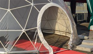 SHELTER Yoga Dome - SHELTER Yoga Dome - Door Option for Geodesic Dome - Hoop Doors