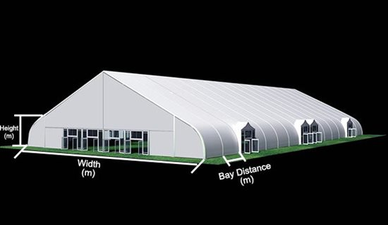 SHETLER Tensioned Fabric Structures - TFS - Indoor Tennis Court - Covered Badminton Court