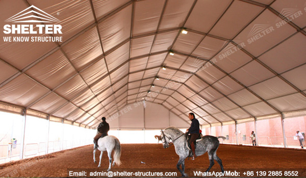 Shelter Indoor Metal Horse Arena - Covered Riding Arena for Sale - Built Equestrian Arena -13
