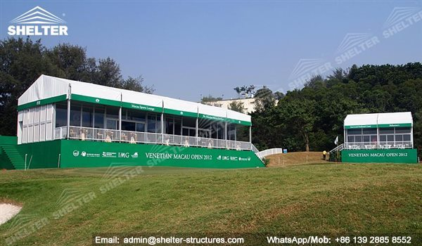 Shelter Sport Tent - Sports Arena - Golf Tent - Double Decker Lounge