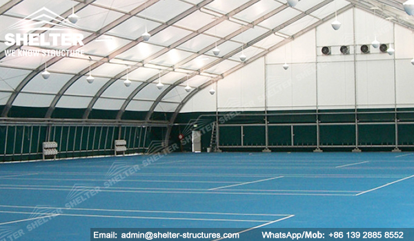 Shelter Sport Tent - Sports Arena - TFS Structures - Indoor Tennis Courts - Badminton Court Construction
