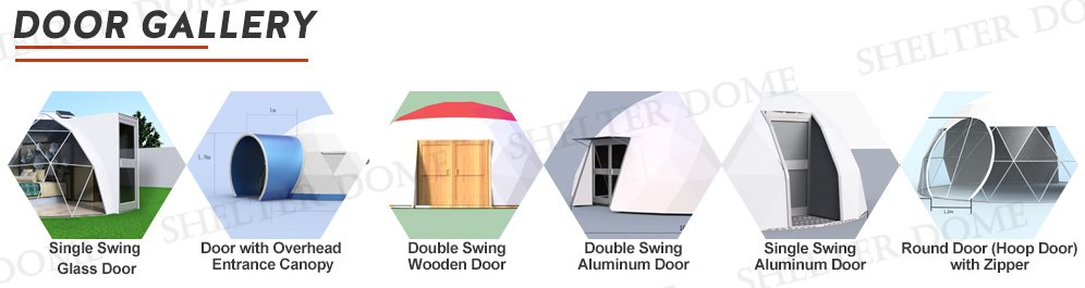 geodesic yoga dome door option 2