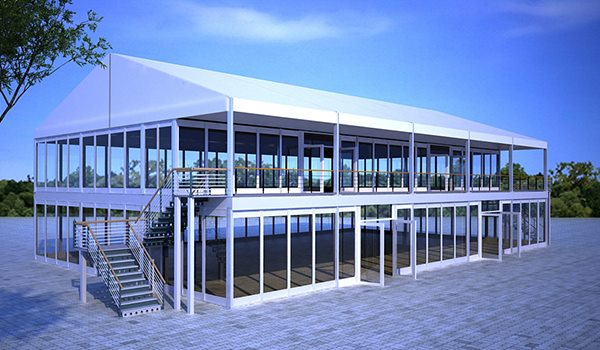 15×25m - SHELTER Two Story Tent - Double Decker Structures - 2 Storey Hospitality Hall - Standing Canopy
