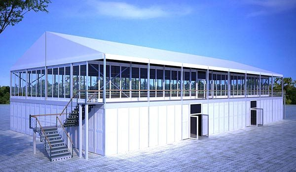 20×40m - SHELTER Two Story Tent - Double Decker Structures - 2 Storey Hospitality Hall - Standing Canopy