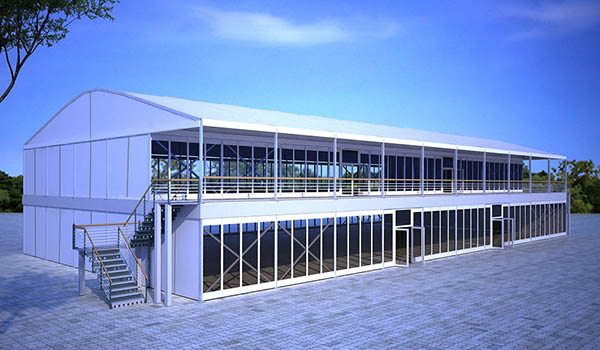 25×50m - SHELTER Two Story Tent - Double Decker Structures - 2 Storey Hospitality & Double Decker Football Hospitality Hall - 2 Story Tent Suite ...