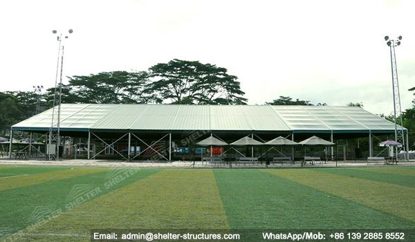 Athletic Field Shelters : Shelter indoor soccer field covered football court