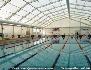 54 SHELTER Polygonal Tent - Swimming Pool Enclosures - Aluminum Pool Canopy - Sun Shade for Pool -12