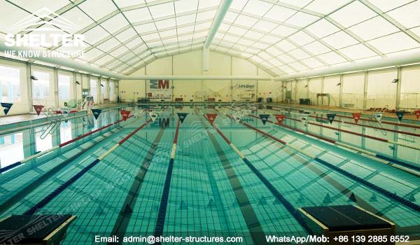 57 SHELTER Polygonal Tent - Swimming Pool Enclosures - Aluminum Pool Canopy - Sun Shade for Pool -12