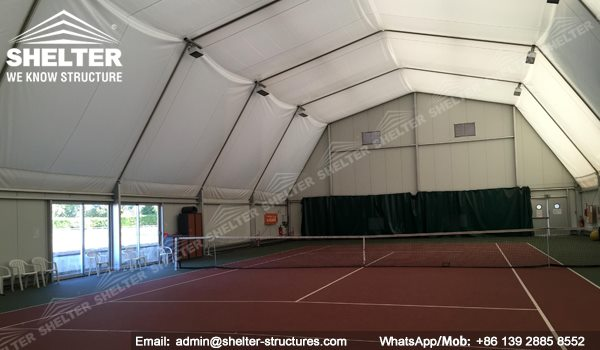 60 SHELTER Polygonal Tent - Indoor Tennis Court Installation - Indoor Tennis Club