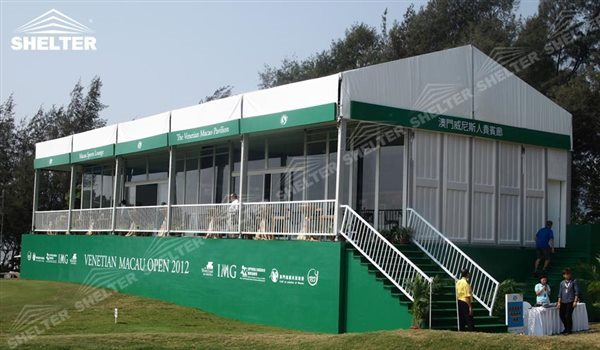 69 SHELTER Double Decker Structures - Two Story Tent - Golf VIP Lounge Tent