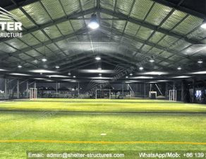 7 SHELTER Indoor Soccer Field - Covered Football Court