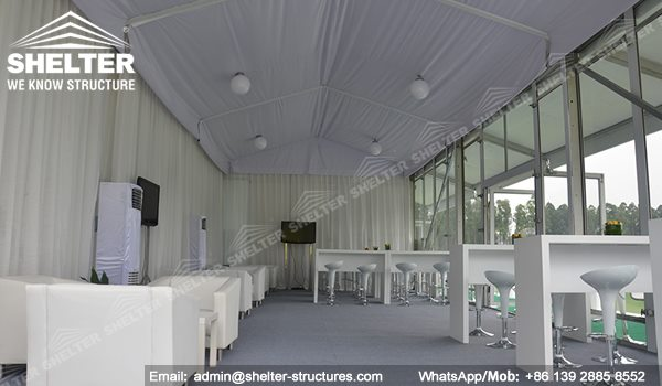 71 SHELTER Double Decker Structures - Two Story Tent - Golf VIP Lounge Tent