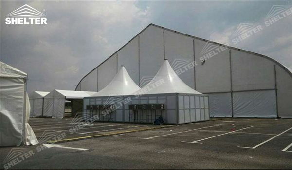 Sport Center Tent With Curved Roof Sport Structures