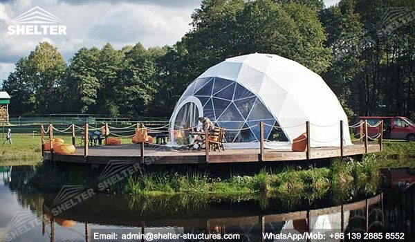 97 SHELTER Geodesic Dome Tent - Dome Fitness Center - Yoga Dome