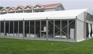 Clear Glass Wall for Sports Tent Structures