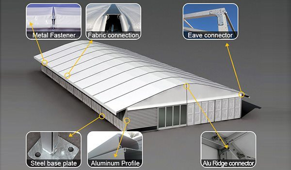 SHELTER Arch Tent - Golf Lounge - Curved Beam Tent - PGA Tour - Sport Gym Center - Lounge Canopy