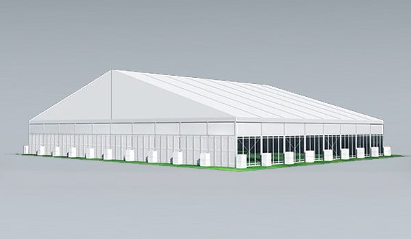SHELTER Sports Tent - Indoor Football Field - Soccer Court Construction with ABS Solid Wall - Soccer Complex -50x40m