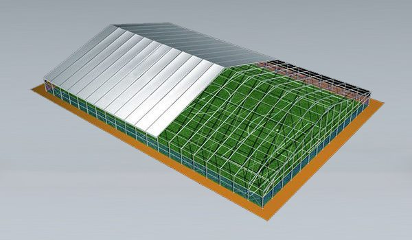 SHELTER Sports Tent - Indoor Football Field - Soccer Court Construction with ABS Solid Wall - Soccer Complex -70x100m