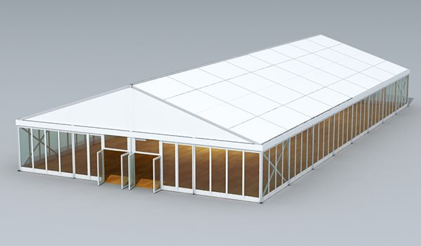 SHELTER Sports Tent - Indoor Football Field - Soccer Court Construction with Clear Glass Windows - Soccer Complex - 20x40m