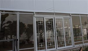 Sliding Door for Sports Tent Structures