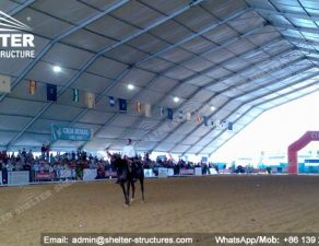 59 SHELTER Polygonal Tent - Indoor Horse Arena - Covered Riding Arena for Sale - Built Metal Equestrian Arena