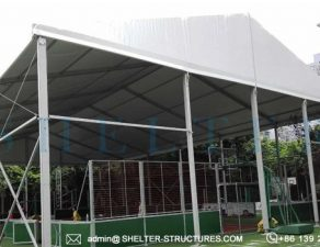 20 by 30m custom basketball court - 6m height sports arena for outdoor playground, school, gym center (2)